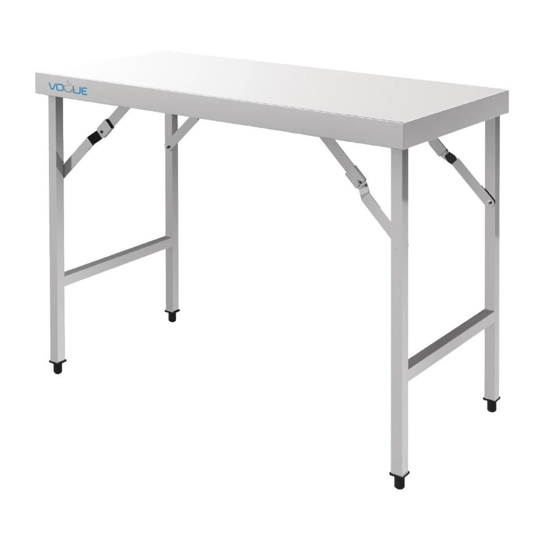 Tavoli Pieghevoli Da Lavoro.Tavolo Da Lavoro Pieghevole Vogue In Acciaio Inox 180 Cm