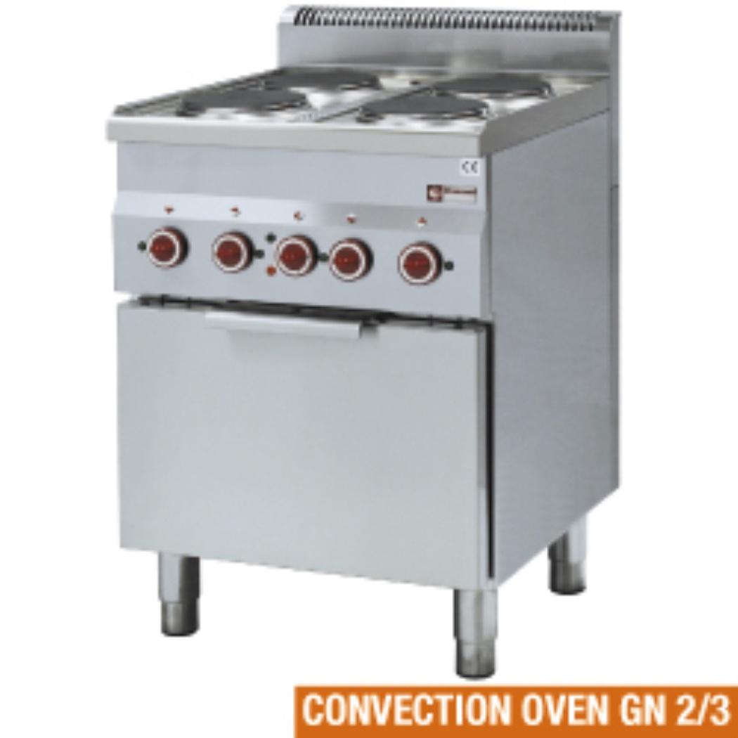 Fornello elettrico a 4 posti diamond forno a convezione gn for Fornello elettrico ikea